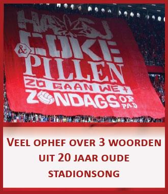 Ophef over spandoek FC Twente